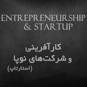 کارآفرینی و شرکتهای نوپا، استارتاپ - entrepreneurship and startup